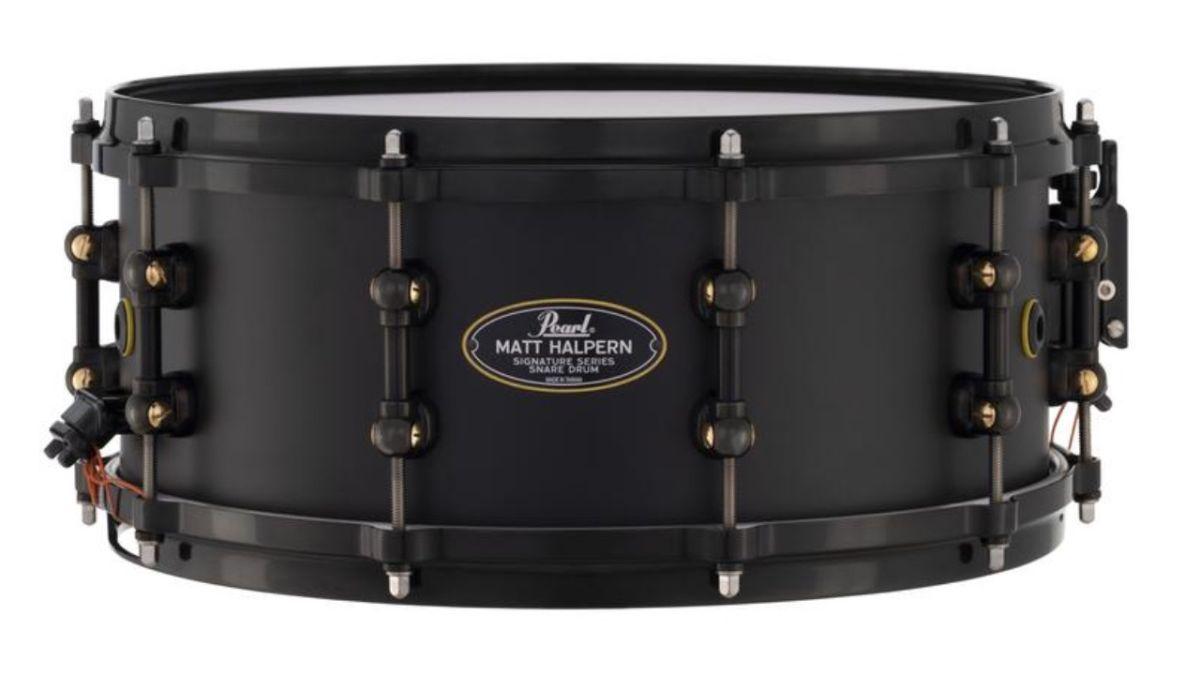 Pearl unveils Matt Halpern Black-on-Brass signature snare drum
