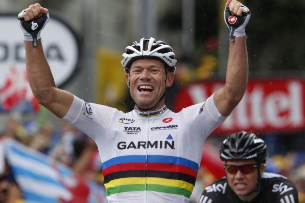 Thor Hushovd wins, Tour de France 2011, stage 16