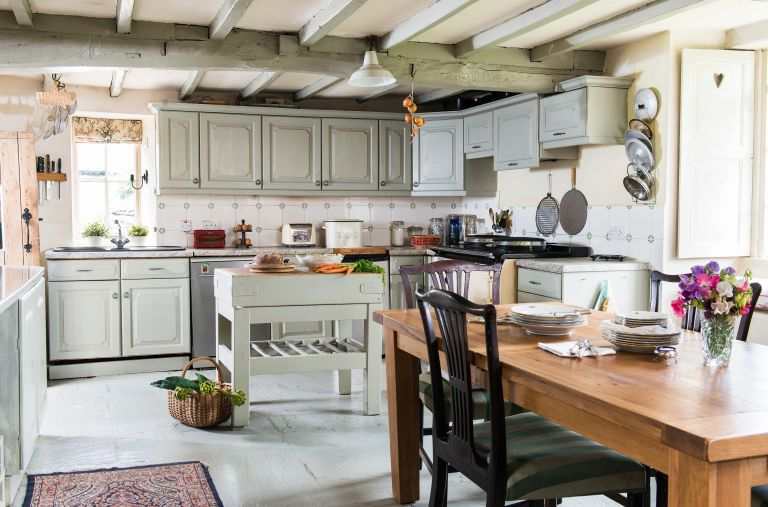 kitchen with aga and dining area