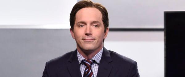 Beck Bennett SNL acting as a CNN correspondent
