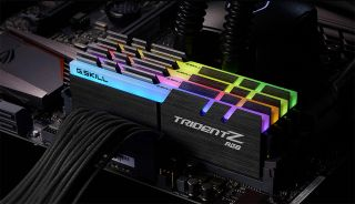 RGB G.Skill RAM in a motherboard.