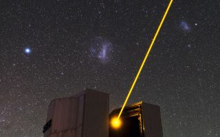 Yepun's Laser and the Magellanic Clouds