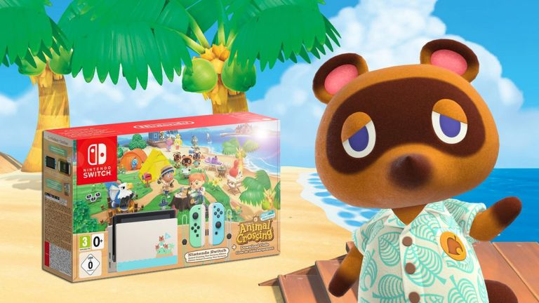 Nintendo Switch Animal Crossing New Horizons Edition console