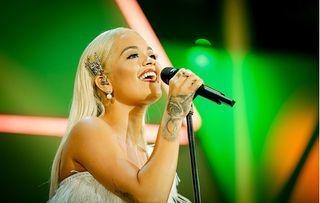 Rita Ora performing at BBC Children in Need Rocks 2018