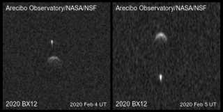 Hình ảnh radar cho thấy tiểu hành tinh nhị phân 2020 BX12, mà các nhà khoa học phát hiện ra trong năm nay.