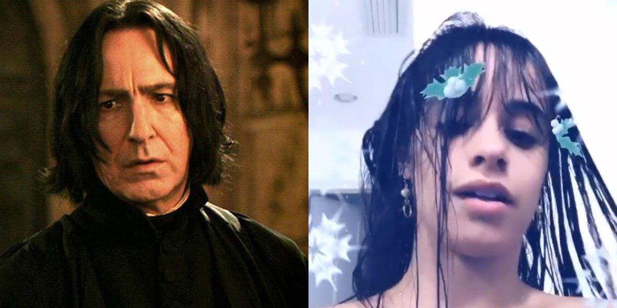 Alan Rickman and Camila Cabello lookalike image