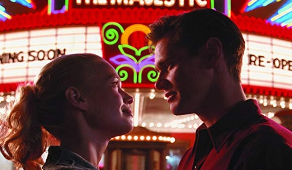 The Majestic Laurie Holden looks lovingly into Jim Carrey's eyes in front of a marquee