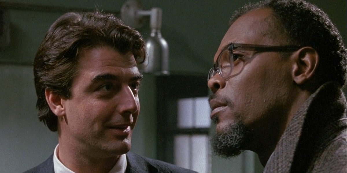 Samuel L. Jackson and Chris North in Law and Order