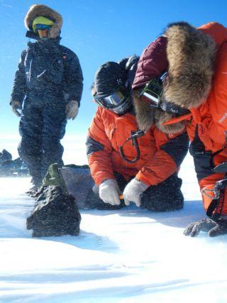 Big chondrite meteorite from Antarctica