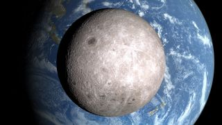 Decades ago, astronomers could only dream of a glimpse at the moon's far side (shown here in a NASA visualization).
