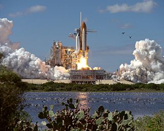 space history, STS-66, Atlantis, space shuttle launch
