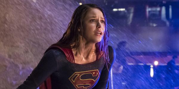 supergirl in the rain