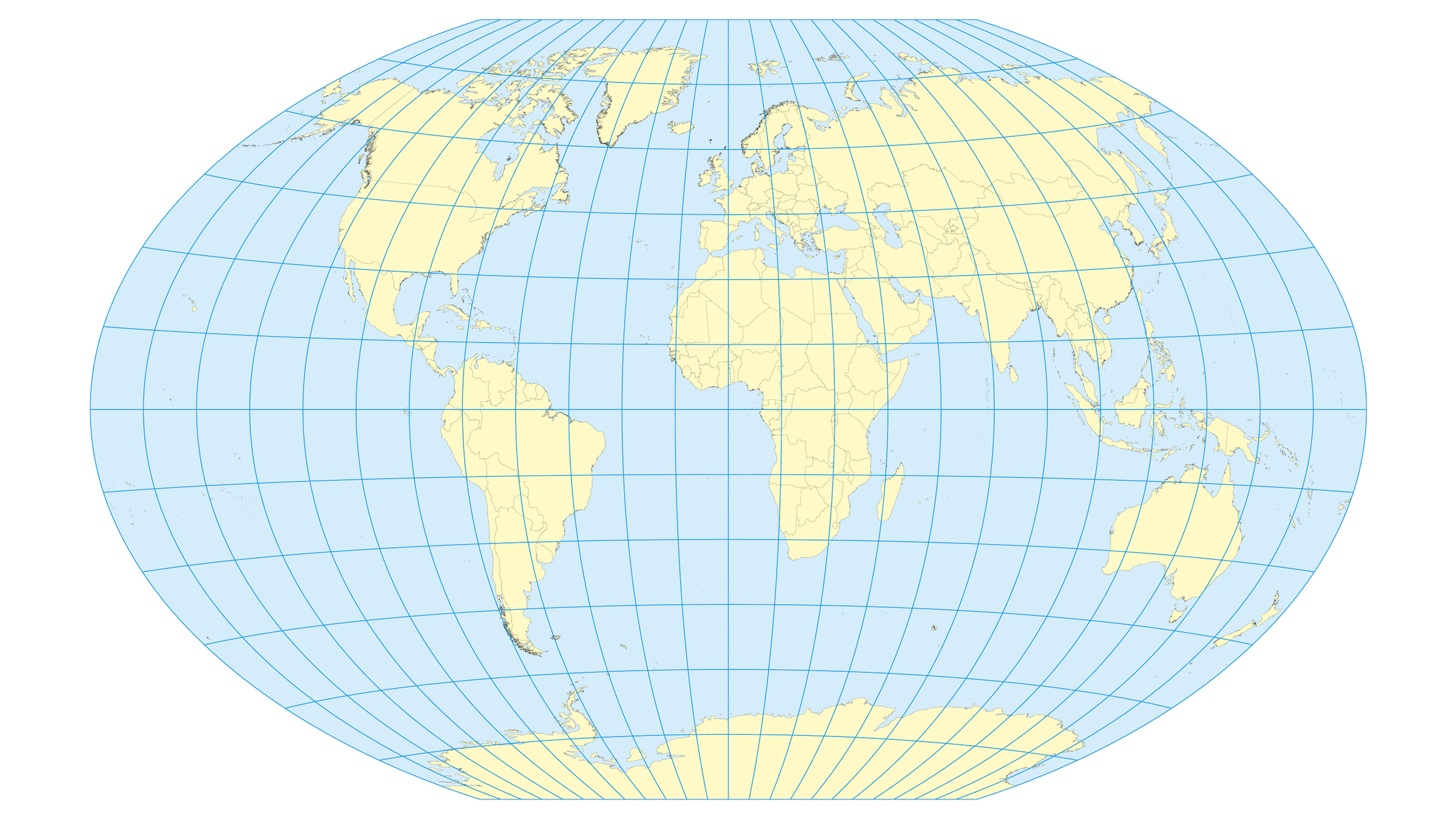 The Winkel Tripel projection world map was first designed in 1921.