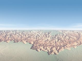 Grand Canyon aerial topography