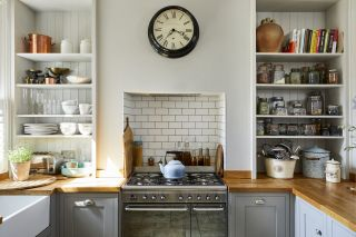 rustic kitchen shelving ideas in small flat