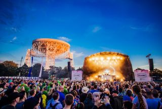 Enjoy the music under the the magnificent sight of the famous Lovell Telescope.