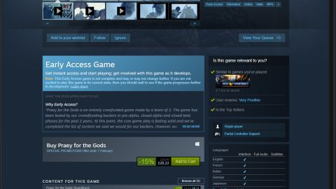 Steam vs Epic game store