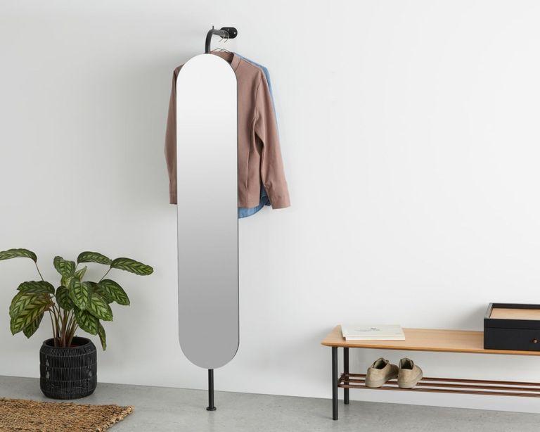 MADE.com hallway mirror – Huldra Wall Mounted Dressing Mirror with Coat Rack