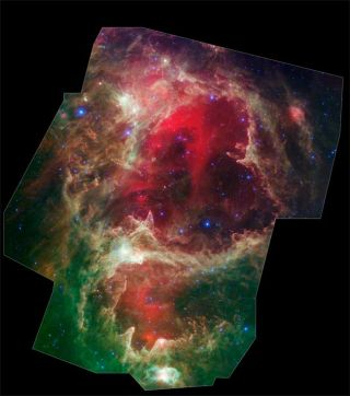 Photo Shows Stars Born in Huge Cosmic Wombs