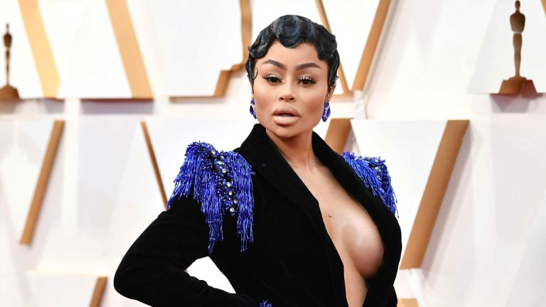 Blac Chyna—one of the celebs on onlyfans—attends the 92nd Annual Academy Awards at Hollywood and Highland on February 09, 2020 in Hollywood, California