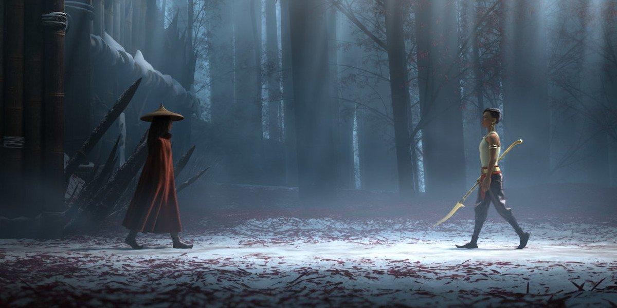 Сцену с одной Райей и последним драконом пришлось переписывать много раз