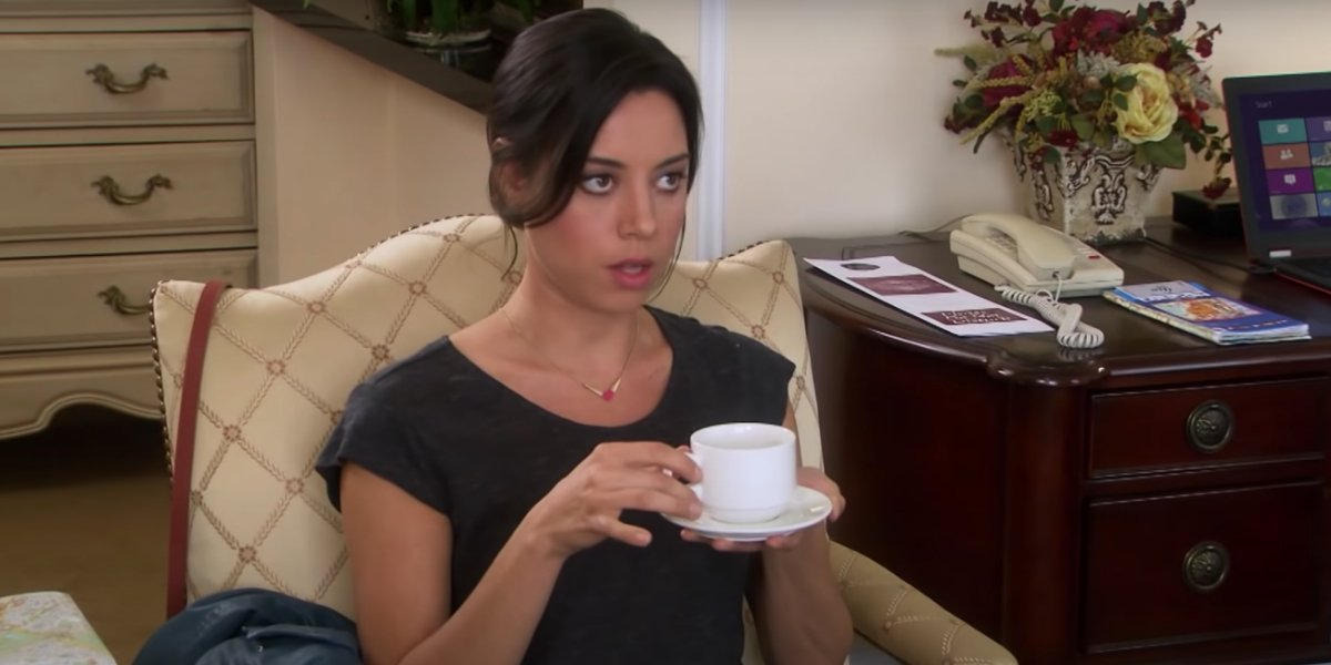 Aubrey Plaza on Parks And Recreation