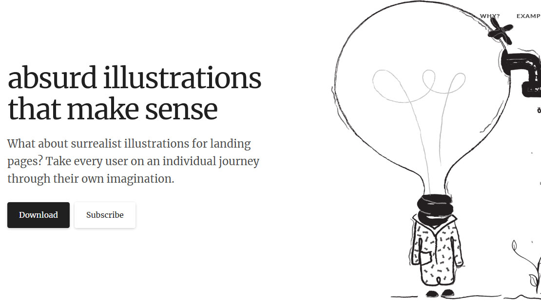 absurd illustrations for your site