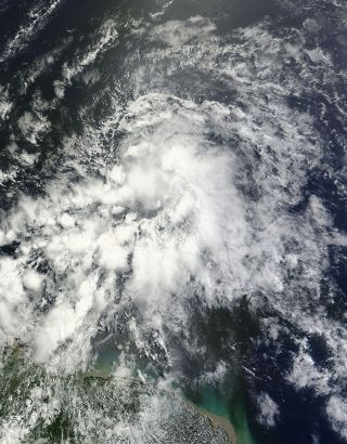 Tropical Storm Ernesto seen by a NASA satellite