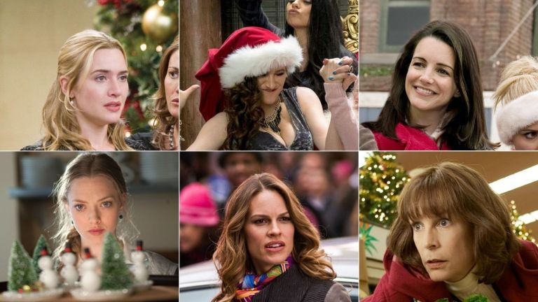 A composite image of stills from 6 of the best Christmas movies on Amazon Prime in 2021