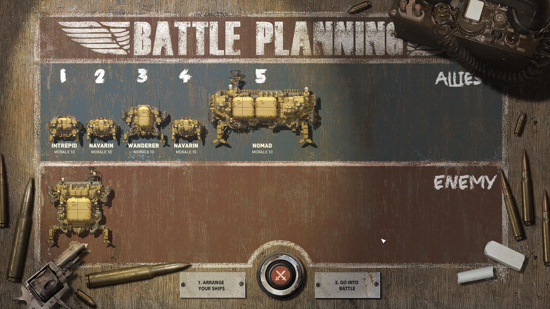 Planning a battle