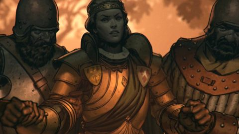 thronebreaker the witcher tales review pc gamer