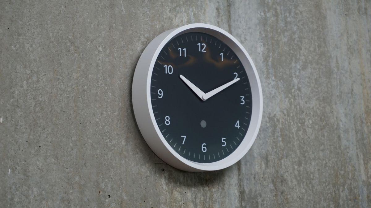 first look  amazon echo wall clock brings alexa smarts to