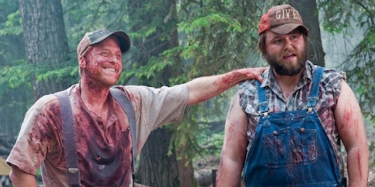 Alan Tudyk and Tyler Labine in Tucker and Dale vs. Evil