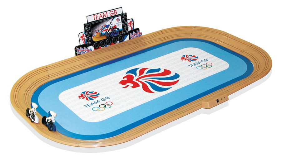 Micro Scalextric Team GB track cycling velodrome set