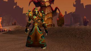 An undead warlock