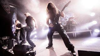 wedish extreme metal band Meshuggah perform on stage on December 3, 2016 in Milan, Italy