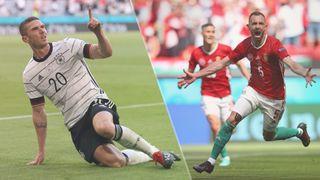 Germany vs Hungary live stream at Euro 2020 — Robin Gosens of Germany and Attila Fiola of Hungary