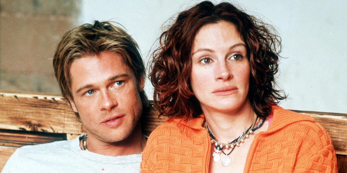 Brad Pitt and Julia Roberts in The Mexican