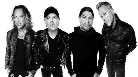 A press shot of Metallica taken in 2016