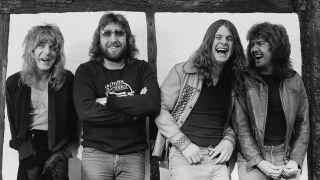 L-R Randy Rhoads, Lee Kerslake, Ozzy Osbourne and Bob Daisley