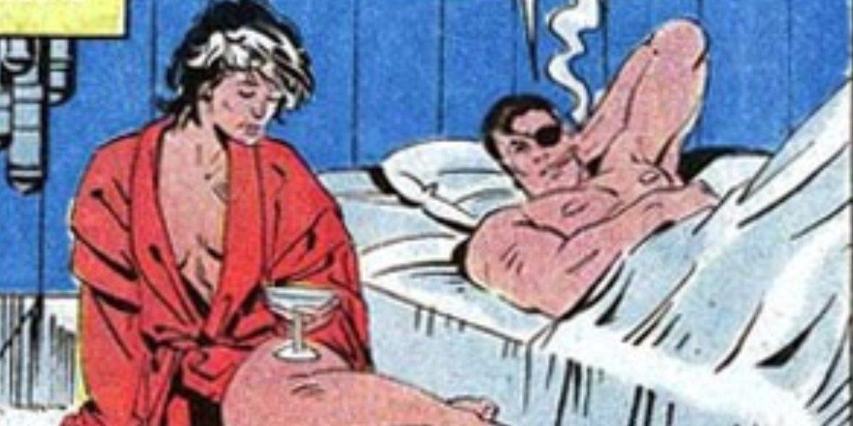 Valentina Allegra de Fontaine and Nick Fury