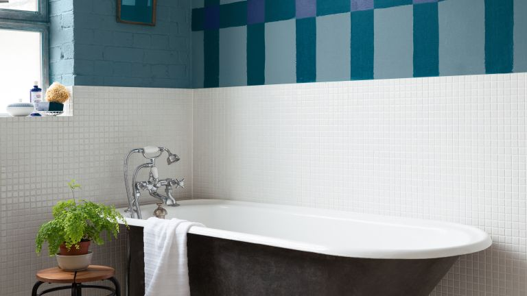 How To Paint Tiles Real Homes Interesting Can I Paint Bathroom Tile