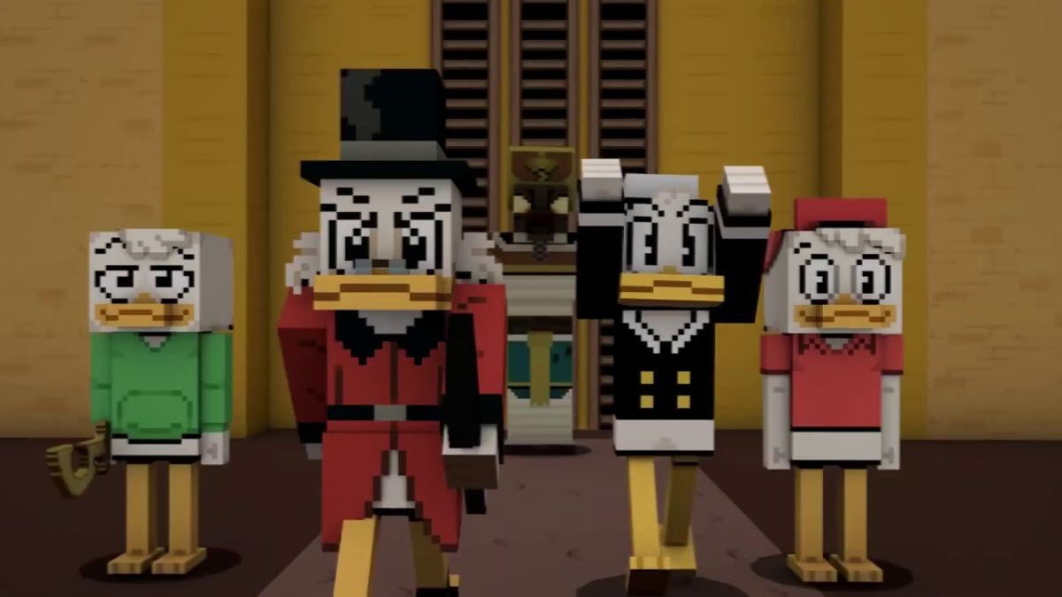 Minecraft's DuckTales crossover is now available for all your duck robber baron needs