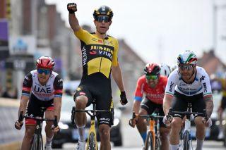 Wout van Aert (Jumbo-Visma) won Gent-Wevelgem 2021