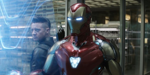 Hawkeye and Iron Man in Avengers: Endgame