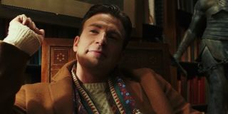 Random Drysdale (Chris Evans) looks smug in a scene from Knives Out