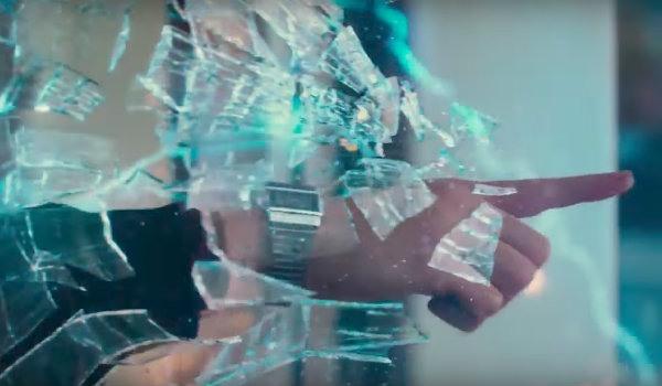 Justice League Barry Allen breaking glass