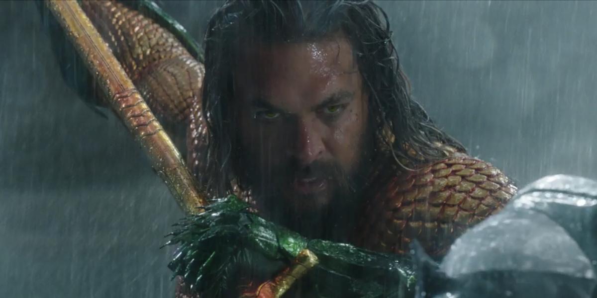 Jason Momoa as Aquaman after defeating Orm