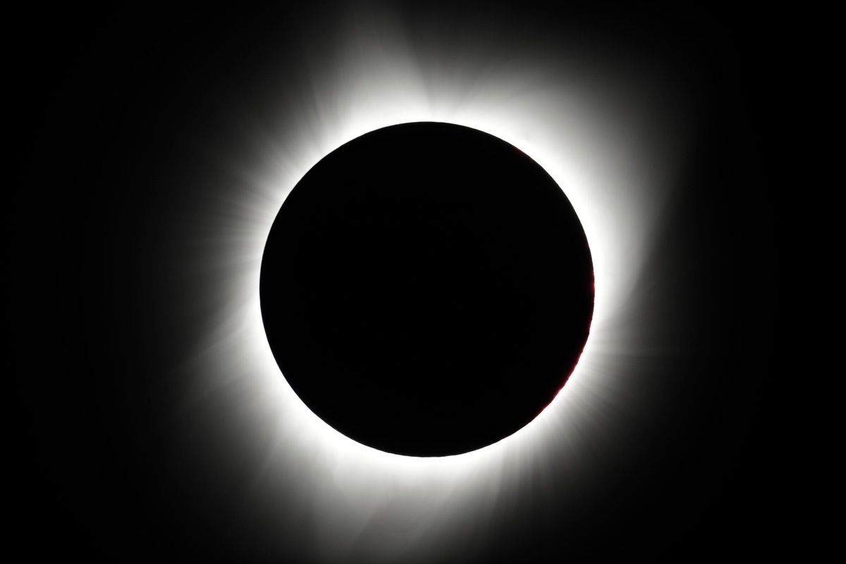 moon blocks the sun