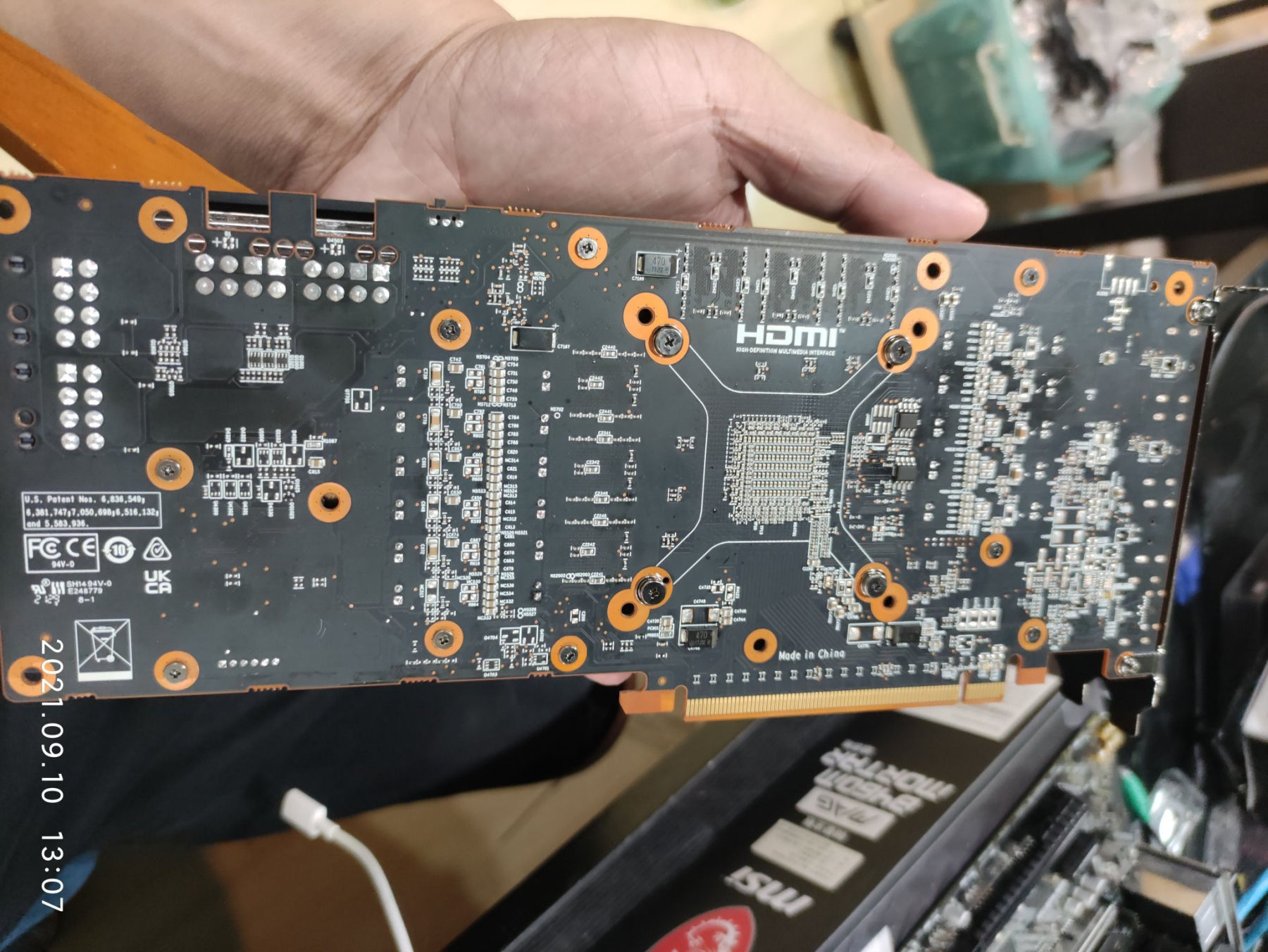 A Purported AMD Cryptomining Card Showing A Fanless, Passive Cooling Design